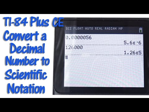 Ti 84 Plus Ce Convert A Decimal Number To Scientific Notation Youtube