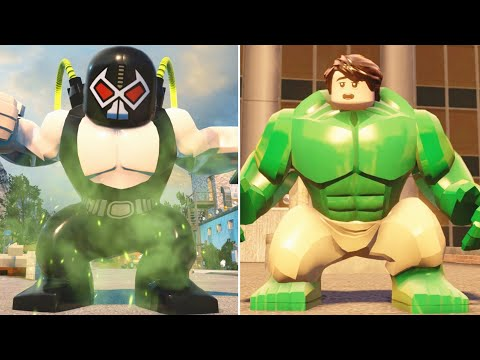 LEGO Marvel Vs DC Character Transformations And Suit Ups (Side By Side Comparison)