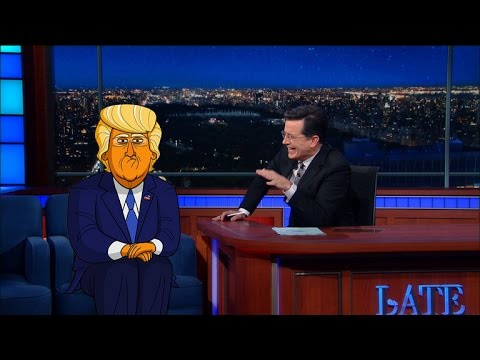 Cartoon Donald Trump Tells Stephen Who Started It