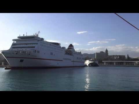 Malaga Port  ( Malaga Andalucia Spain )