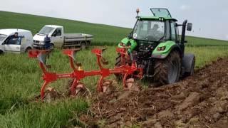 Test cu tractor Deutz Fahr 6150 si plug Poettinger