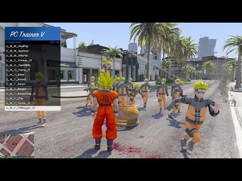 GTA 5 Mod - Son Goku đánh nhau với Naruto trong GTA V (Phần 1)