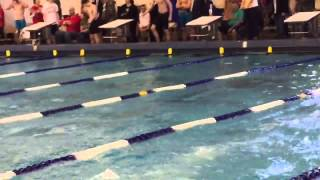 100 fly at Louisiana Short Course State Swim Meet 2014-2015 (Berns, 59.00)