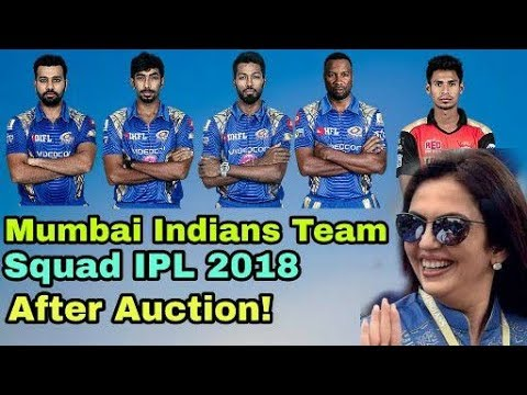 IPL 2018: Mumbai Indians Team Squad IPL 2018 After Auction |