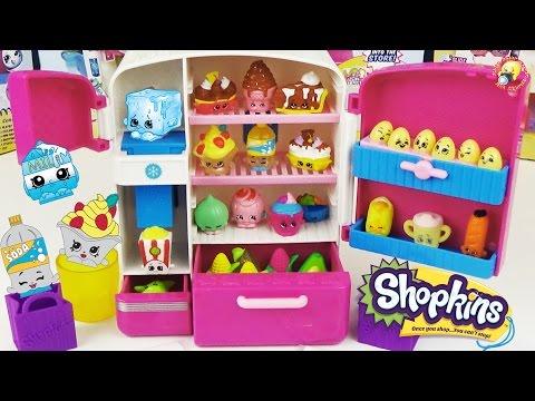 Шопкинс игровой набор Холодильник Эксклюзивные фигурки  Shopkins So Cool Fridge Refrigerator Toy