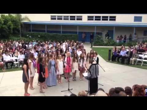 Malibu 8th grade girls choir singing New Soul