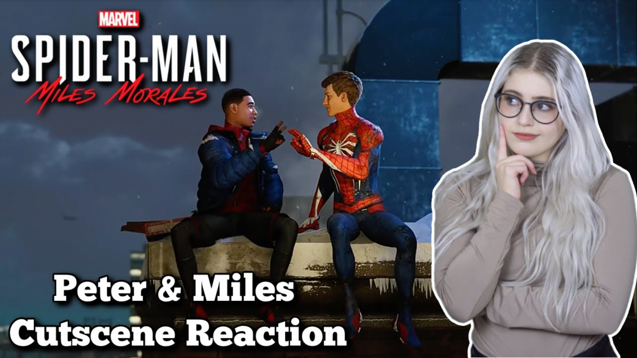 Spider Man: Miles Morales - Peter & Miles Cutscene Reaction | PS5