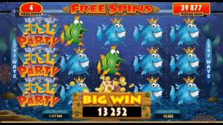 Fish Party Online Slot Game(Fish Party video slot, win up to 97000.000, featuring Free Spins, Super Stacked Wilds and a Gamble Feature. Play at Major Tom Casino in July., 2014-06-19T12:13:11.000Z)