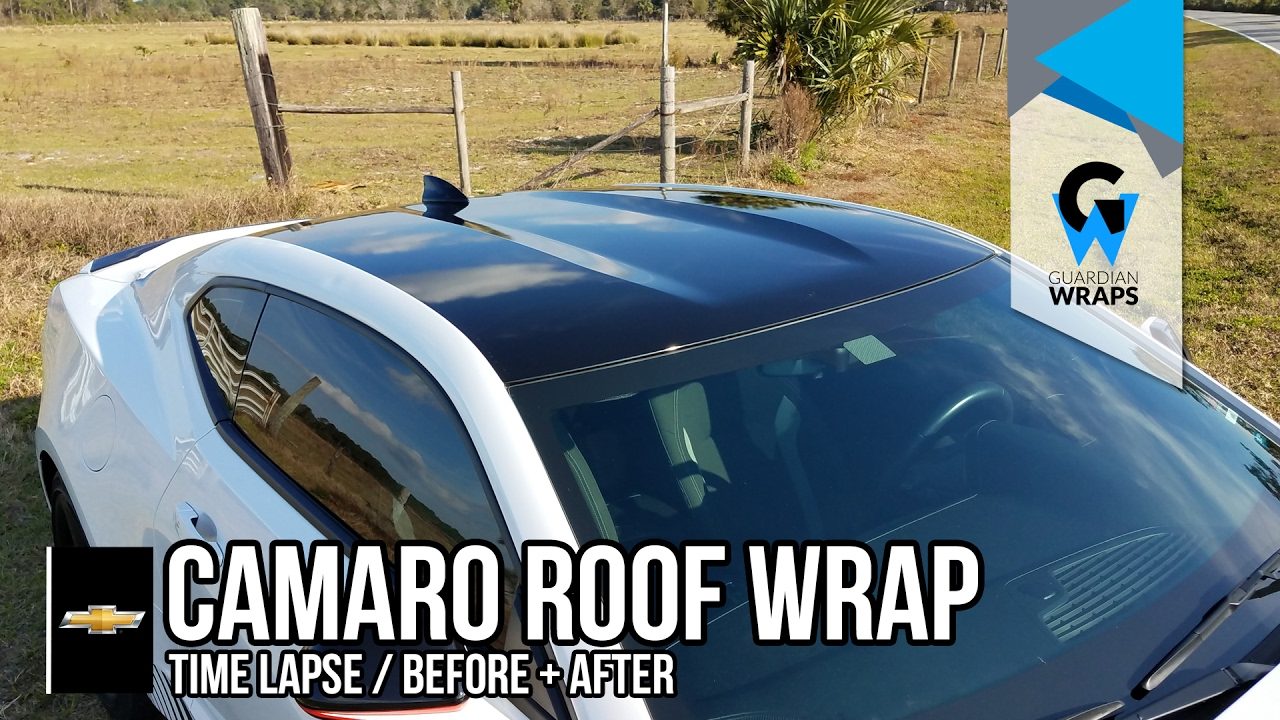 Chevy Camaro Black Roof Wrap Time Lapse Youtube
