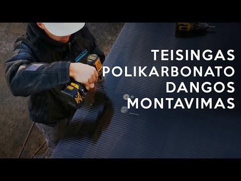 Teisingas polikarbonato dangos montavimas ant terasos stogo | Stoginės dengimas | MDS terasos