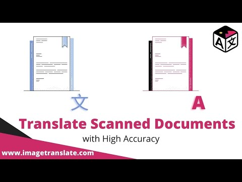 Translating a scanned document or PDF