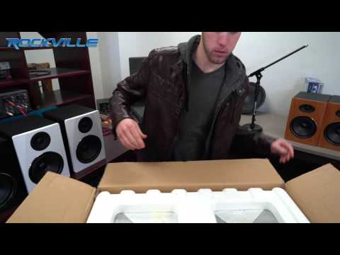 "Unboxing Rockville APM6C 6.5"" 2-Way 350W Active/Powered USB Studio Monitor Speakers Pair"