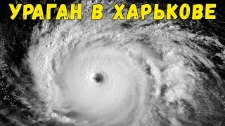 Ураган в Харькове. Страшные кадры. Дождь ливень град сильный ветер. 29.05.2016