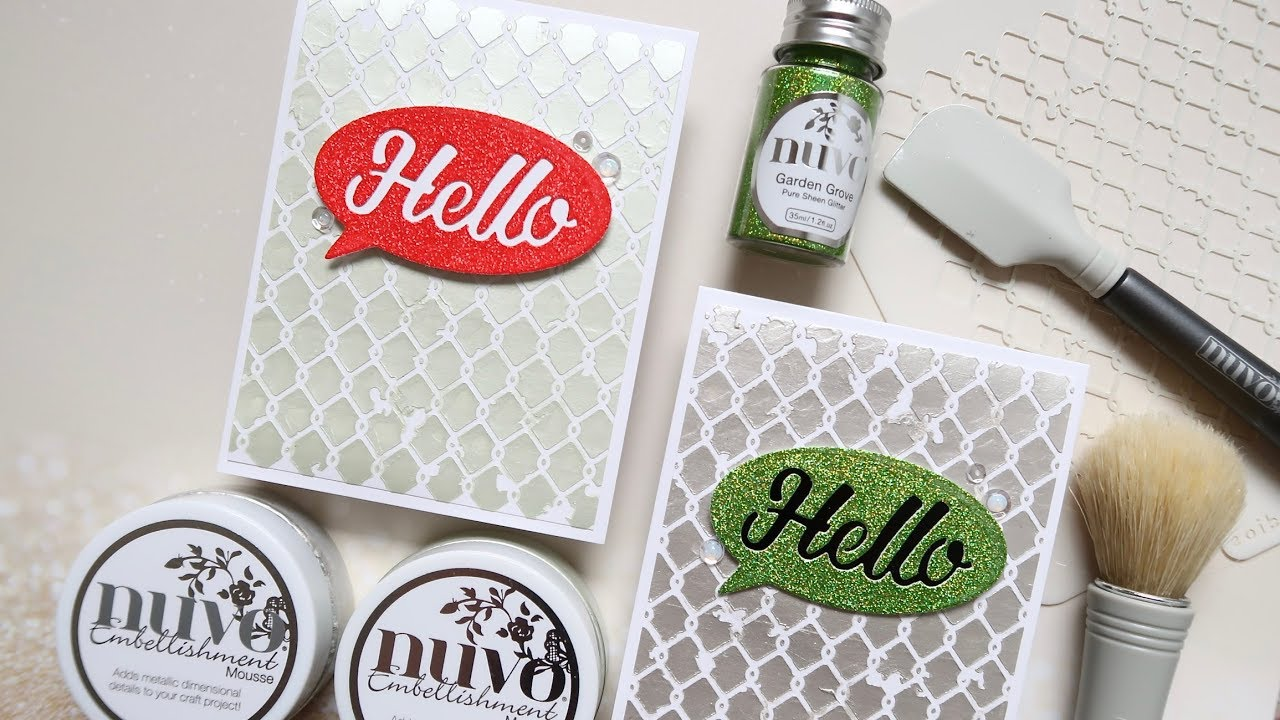 Adding Shine and Sparkle to Cards with Nuvo Products