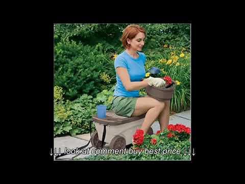 Suncast GDS200 Garden Scooter; Garden Scooter Tractor Seat, Garden Cart Seat
