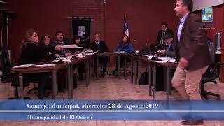 Concejo Municipal  miércoles 28 de agosto 2019 (parte 2)