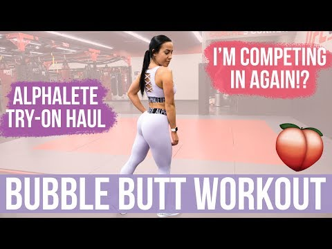 BUBBLE BUTT WORKOUT! Alphalete Try-on Haul + Exciting Announcement!