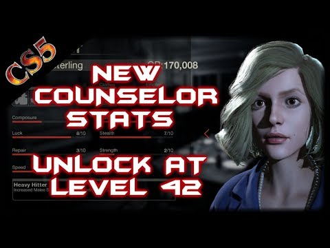NEW COUNSELOR STATS / UNLOCK AT LEVEL 42 | Victoria Sterling | Friday the 13th the game