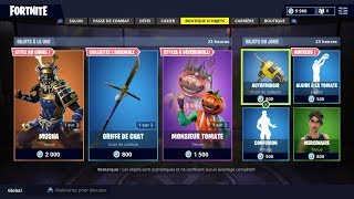FORTNITE BOUTIQUE August 24 New Skins MUSHA - HIME - MONSIEUR TOMATE
