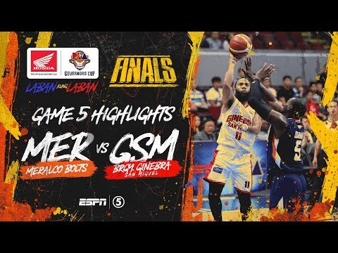 Highlights: G5: Meralco vs Ginebra   PBA Governors' Cup 2019 Finals