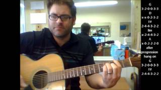 "How to play ""One Headlight"" by The Wallflowers on acoustic guitar"