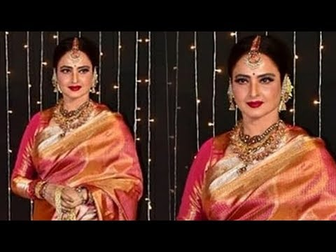 Beautiful Rekha At Priyanka Chopra Nick Jonas Wedding Reception In Mumbai 2018