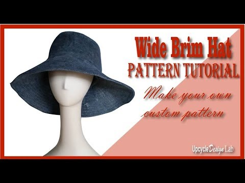 Wide Brim Hat Pattern Tutorial - How to make your own hat pattern ...