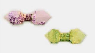 Repeat youtube video Origami THB Bill Bow / พับโบว์จากธนบัตร
