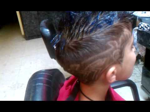 who can do boys hair designs and hair color styles