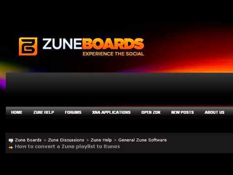 import windows media player playlist to zune