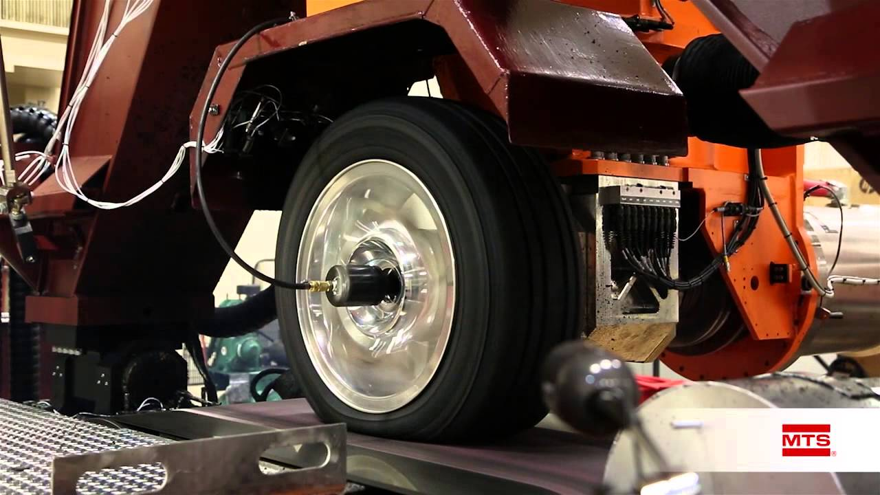 MTS Flat-Trac LTRe Tire Force & Moment Test System - YouTube