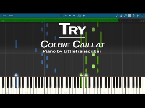Colbie Caillat - Try (Piano Cover) by LittleTranscriber
