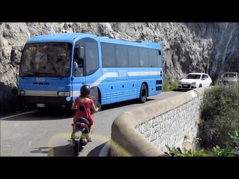 Bus Ride on the Spectacular Amalfi Coast of Italy