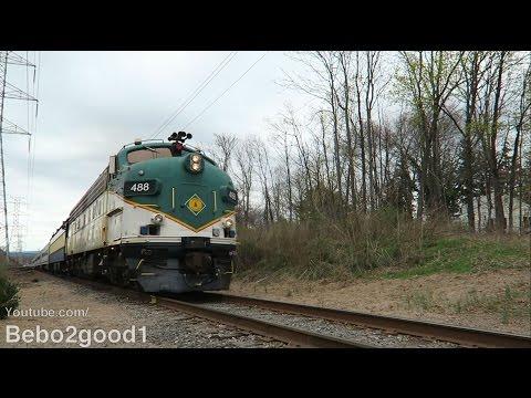 NJ Whippany Railway: Maine Eastern FL9 Leads Easter Bunny Nostalgia Train