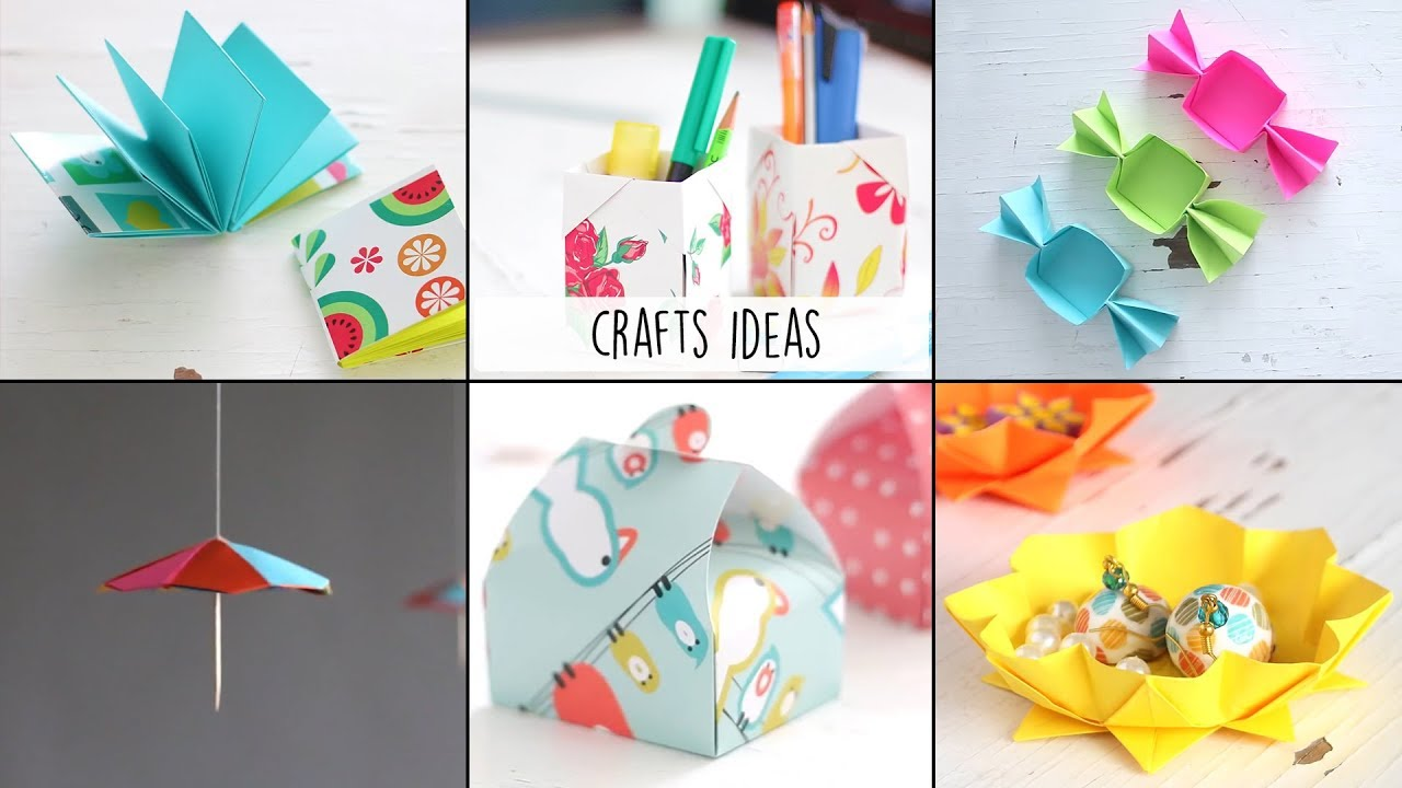 6 Easy Craft Ideas Ventuno Art Useful Things Youtube