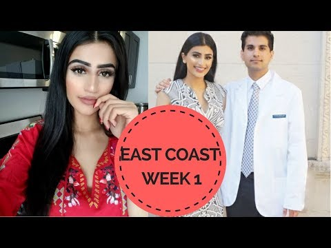 VLOG: Week 1 on the East Coast | White Coat Ceremony