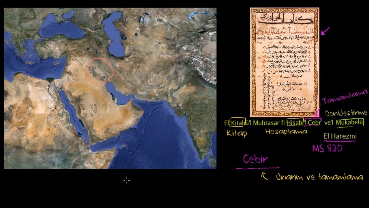 Cebirin ortaya çıkış tarihi ve gelişimi