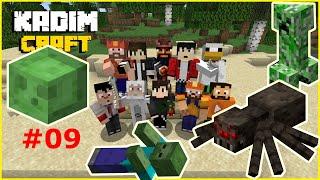 KadimCraft 1 : Bölüm 09 - Ortaya Karışık Slime lı Mob Farm