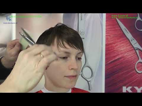 How I cut Gesa a STRONG PIXIE hairstyle!   2018 Tutorial by T.K.S.