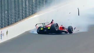James Davison Crashes on Fast Friday Preparing for 102nd Indy 500
