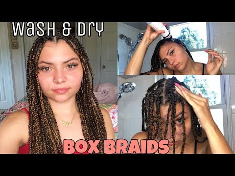 HOW TO WASH AND DRY KNOTLESS BOX BRAIDS! | SydneyLynn