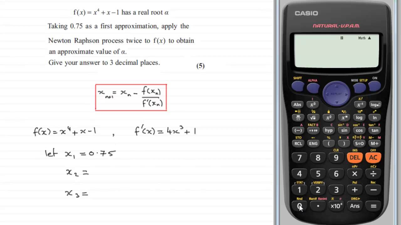Exam Questions - Newton-Raphson | ExamSolutions