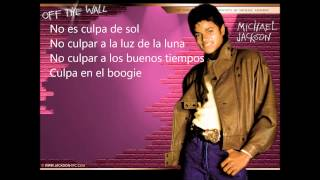 Michael Jackson (Blame it on the boogie) Subtitulado en Español