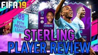 FIFA19! POTM RAHEEM STERLING PLAYER REVIEW!