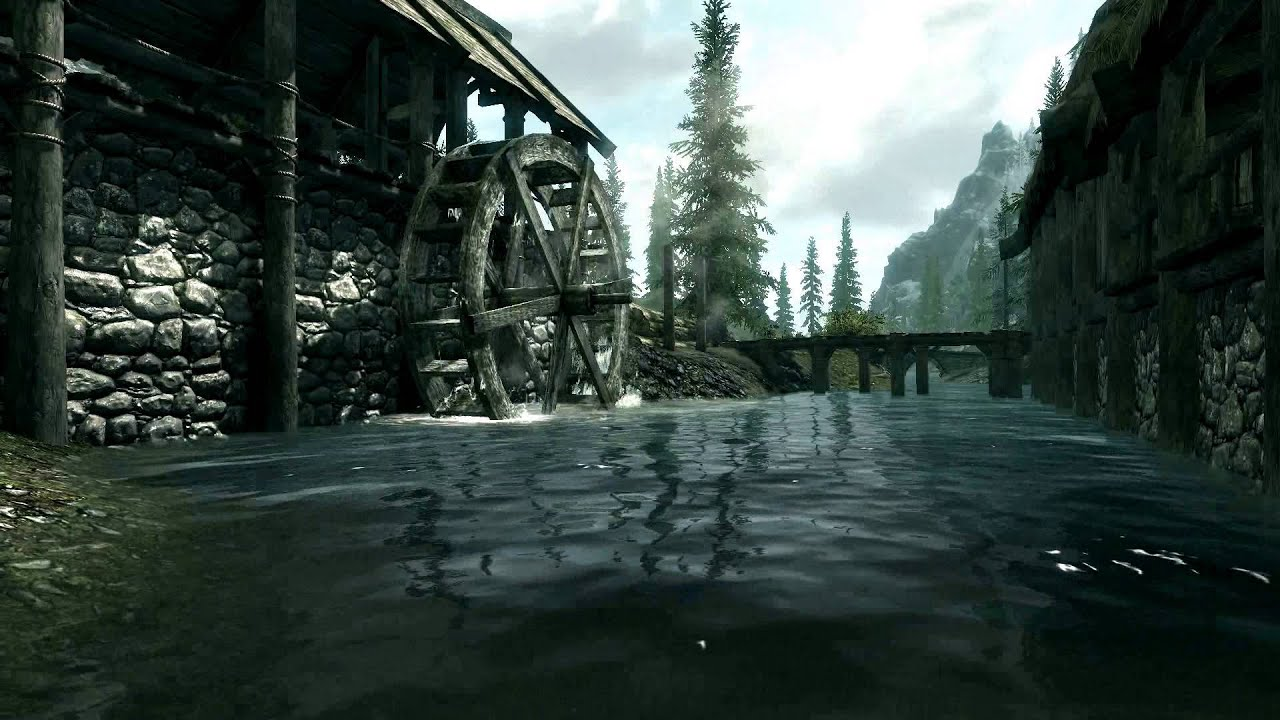 live wallpaper - skyrim - river scene (1080p) - youtube