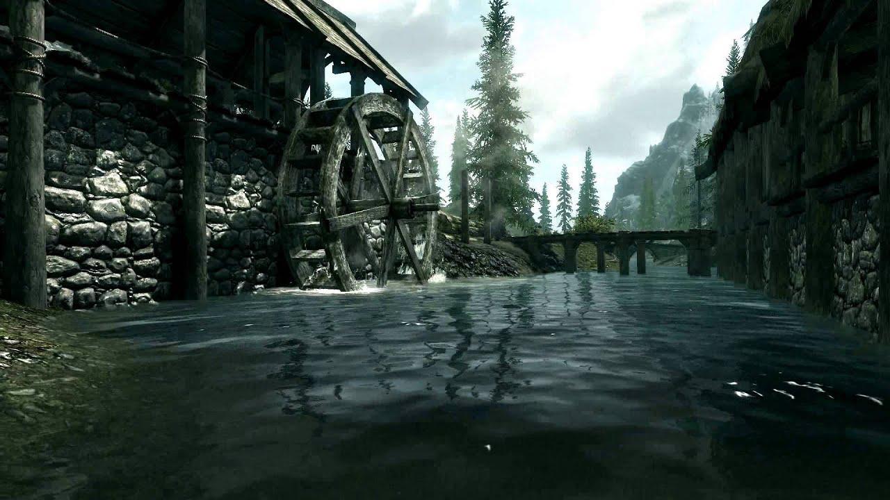 Live Wallpaper - Skyrim - River Scene (1080p) - YouTube