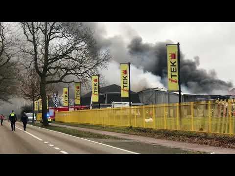 Grote brand Itek Kaulille
