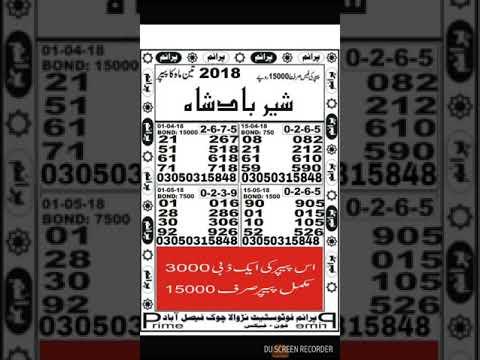 New paper prize bond guess paper 40000 Peshawar 1.6.2018