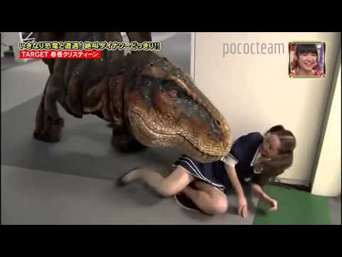 Japanese Prank Dinosaur T REX In Hall Way Part 111