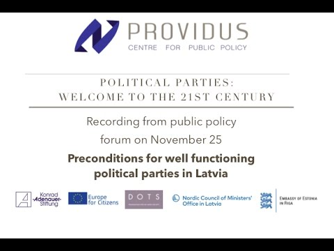 Preconditions for well functioning political parties in Latvia